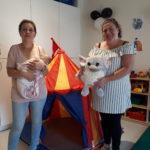 Fouzia Abdelli et Caroline-Suzie Boies , éducatrices pour le groupe 0-36 mois